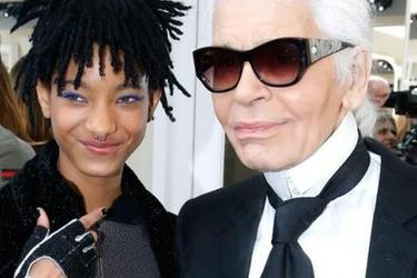 Willow Smith和Karl Lagerfeld